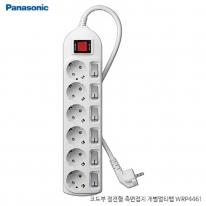 파나소닉ES신동아 3,000W 고용량 개별 스위치 코드부 멀티탭 6구 3M (16A/250V)