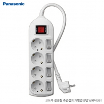 파나소닉ES신동아 3,000W 고용량 개별 스위치 코드부 멀티탭 4구 3M (16A/250V)