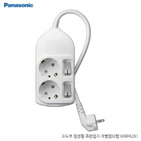 파나소닉ES신동아 3,000W 고용량 개별 스위치 코드부 멀티탭 2구 4.5M (16A/250V)