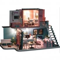 DIY 미니이처 풀하우스 - 핑크 카페