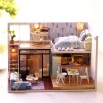 DIY 미니어처 하우스 - 블루타임스