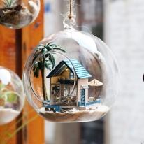 DIY 미니어처 볼 - 해변의 작은집