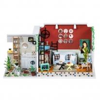 DIY 미니어처 테라스 하우스 - 거실