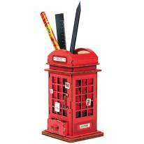 DIY 3D 펜홀더 입체퍼즐 - 공중 전화