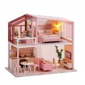 DIY 미니어처 노르딕 하우스 - 핑크