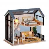 DIY 미니어처 노르딕 하우스 - 블루