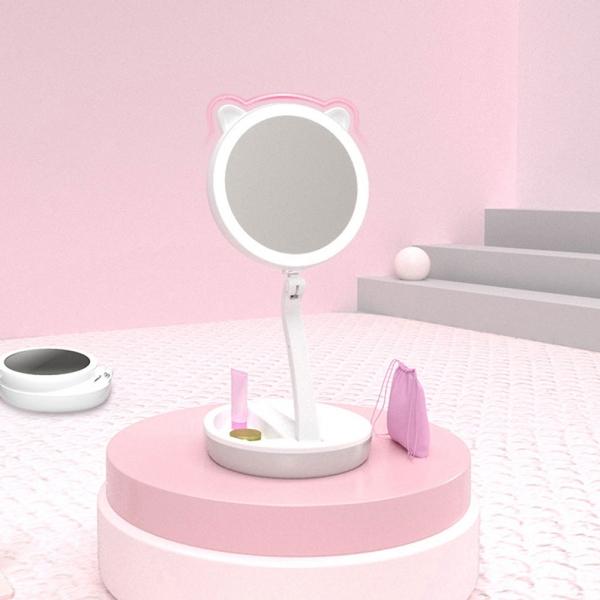 무선충전 가능한 화장대 LED 확대 화장 조명 거울