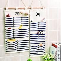 다용도 걸이형 포켓 욕실 용품 수납 정리함