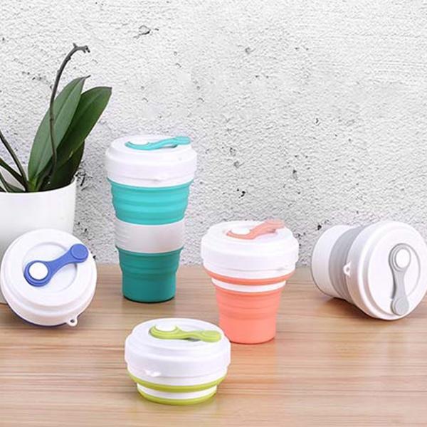 휴대용 접이식 대용량 올레오 텀블러 (원터치)