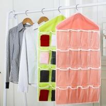 16칸 옷걸이 속옷 양말 소품정리함 다용도 수납함