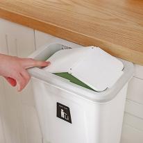 뚜껑있는 걸이형 주방 씽크대 음식물 쓰레기통