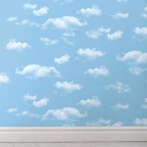 [새로고침] 만능풀바른벽지 합지 KS93401-1 구름 블루
