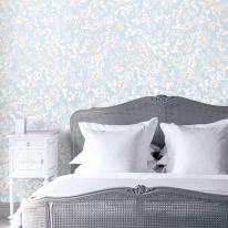 [새로고침] 풀바른벽지 실크 LG82487-2 빈티지플라워 블루
