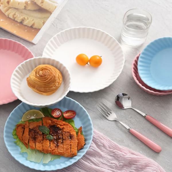 세라믹 트윙클 접시 소(화이트/핑크)