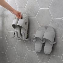 심플 벽걸이 신발걸이 욕실정리 후크(그레이)