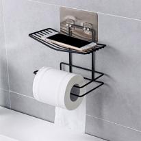 심플 화장실 걸이용 선반(블랙)