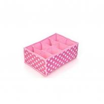 키친아트 속옷정리함 땡땡이 핑크(8칸)