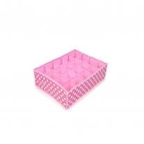 키친아트 속옷정리함 땡땡이 핑크(20칸)