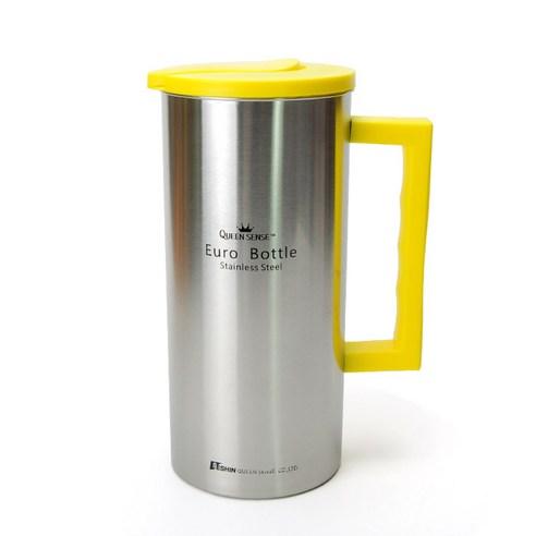 퀸센스 유로 스텐물병 1.6L(노랑)