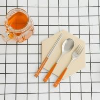 베이직라인 커트러리 3종세트 오렌지(어린이용)