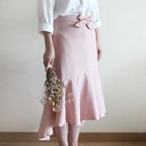 심플 윈프릴 허리 앞치마(핑크)