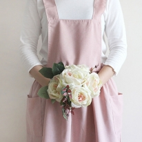 심플 알프스 앞치마(핑크)