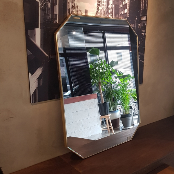 아트벨라 팔각 골드 거울 600x800