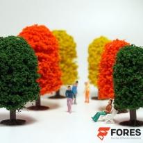 포레스 디오라마 재료 정원수 칼라모형나무 / 건축모형만들기