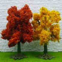 포레스 건축모형재료 단풍나무모형 디오라마 2종