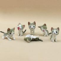 포레스 고양이 피규어 6개세트 (2color)