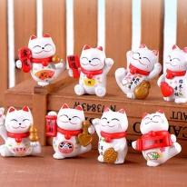 포레스 일본 고양이 장식품 / 마네키네코 미니어쳐 세트