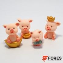 포레스 돼지 삼형제 미니피규어 / 인테리어 소품