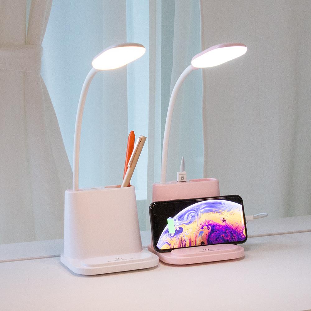 레토 3in1 충전식 LED스탠드 USB선풍기 핸드폰거치대 LLS-PFH11