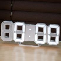 무소음 디지털 3D LED 벽시계 알람 탁상시계 무드등 LLC-P03D