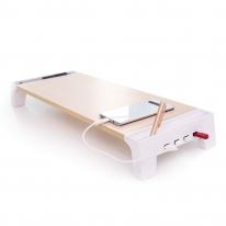 레토 우드 모니터받침대 LMS-W05H 스마트 USB허브 4포트