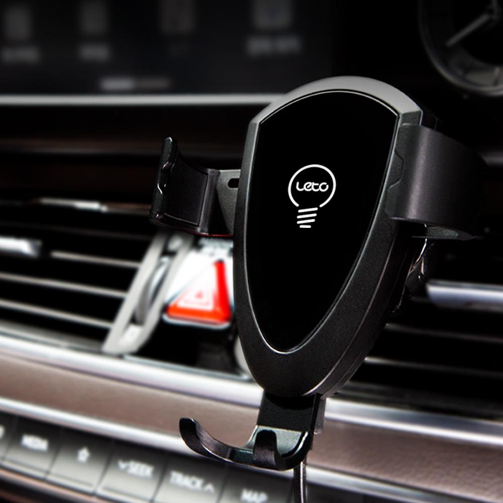 레토 LWC-C01 차량용 고속 무선충전 스마트폰 핸드폰거치대