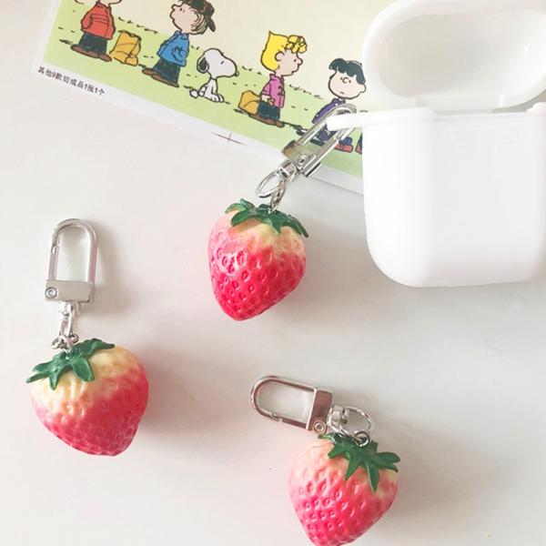 딸기 에어팟 키링 열쇠고리