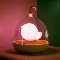 새장램프 아기새 무드등 (핑크)