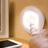 LED 붙이는 조명 퍽라이트 2color 터치등 옷장조명