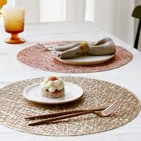레인드롭 원형 테이블매트 식탁매트 러너 테이블깔개
