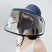 PVC 모자 가림막 오염방지 가리개 얼굴가리개 보호막