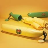 바나나 3단 접이식 우산 귀여운우산