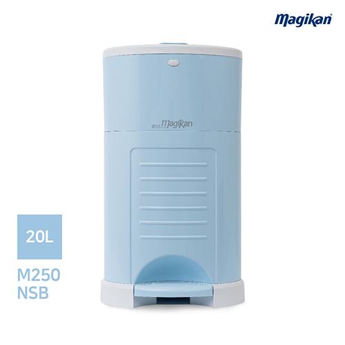[무료배송] 매직캔 가정용 무소음 20L 휴지통 M250NSB (블루)