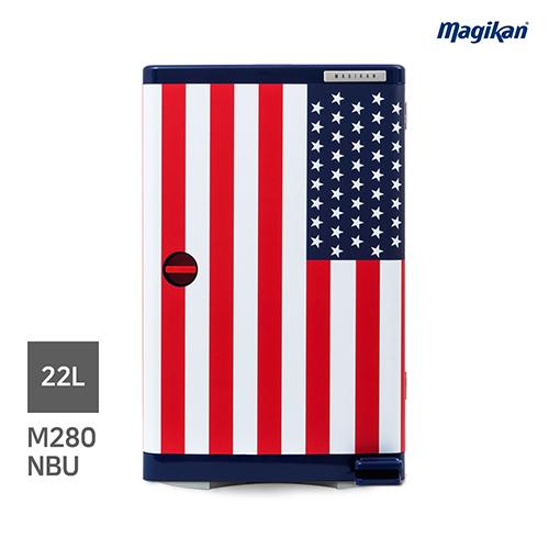 [무료배송] 매직캔 가정용 무소음 22L 휴지통 M280NBU (디자인_성조기)