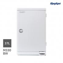 [무료배송] 매직캔 대용량 무소음 37L 휴지통 M330BW (B형사각_화이트)