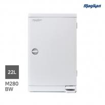 [무료배송] 매직캔 가정용 무소음 22L 휴지통 M280B (B형사각_화이트)