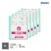 [무료배송] 매직캔 정품 전용 리필 9L 220R5B (M220시리즈_5개입)