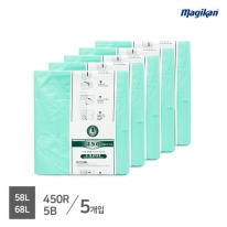 [무료배송] 매직캔 정품 전용 리필 58L 450R5B (M450시리즈_5개입)
