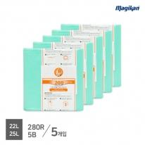 [무료배송] 매직캔 정품 전용 리필 22,25,27L 280R5B (M280시리즈_5개입)