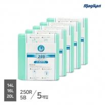 [무료배송] 매직캔 정품 전용 리필 14,16,20,21L 250R5B (M250시리즈_5개입)